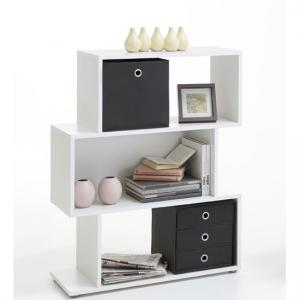 Kubi2 Shelving Unit In White With 3 Compartments