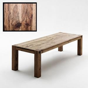 Leeds Wooden Dining Table In Solid Wild Oak In 220cm