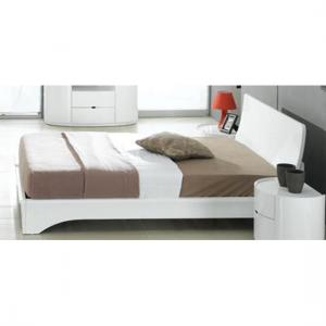 Laura White Gloss Double Bed With Ventilated Board