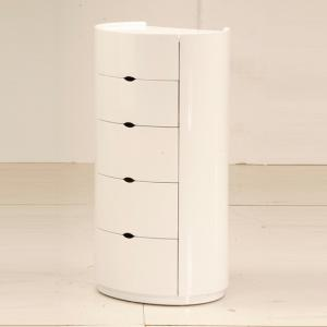 Laura Chest of Drawers In White High Gloss With 5 Drawers
