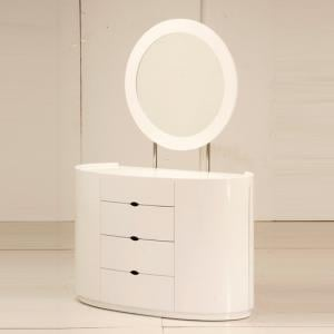 Laura Dressing Table In White High Gloss With 4 Drawers