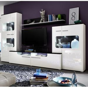 Foster Living Room Set In White Gloss Fronts With LED_1
