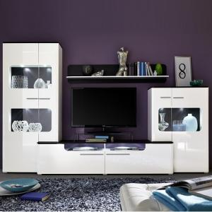 Foster Living Room Set In White Gloss Fronts With LED_3