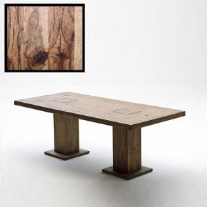 Mancinni 220cm Pedestal Dining Table In Solid Wild Oak