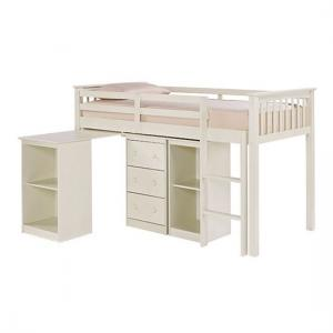 Milli Solid Off White Finish Sleep Station With Pull Out Desk