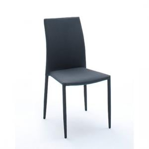 Mila Upholstered Grey Dining Chair