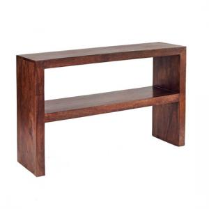 Mango Wood Console Table with Shelf