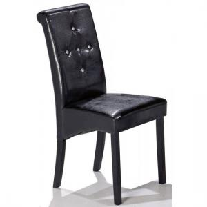 Morna Black Faux Leather Dining Chair