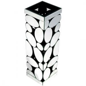 Rosie Vase In Silver With Pebble Pattern Mirror
