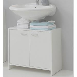 Madrid7 Bathroom Vanity Cabinet In White With 2 Door