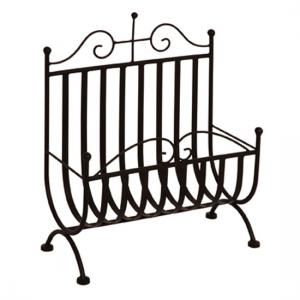 Metal Magazine Rack In Black