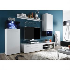 Magic Living Room Furniture Set In White And Black