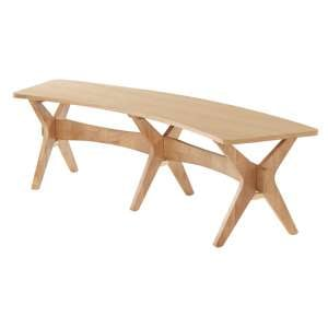 Malun Contemporary White Oak Finish Dining Bench
