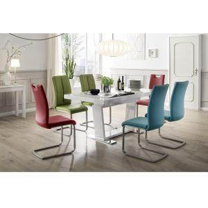Manhattan Glass Dining Table In High Gloss With 8 Paulo Chairs