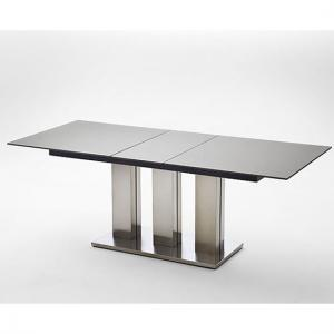 Massimo Black Extending Glass Dining Table 180 to 220 cm