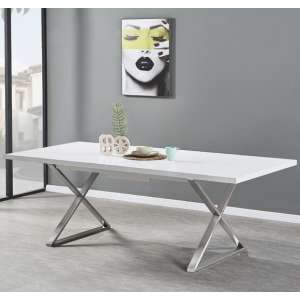 Mayline Extendable Dining Table in White High Gloss