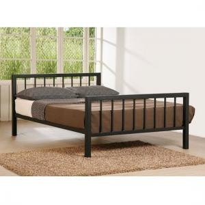 Metro Traditional Metal Bed In Black