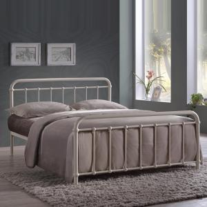 Miami Victorian Style Metal Bed In Ivory