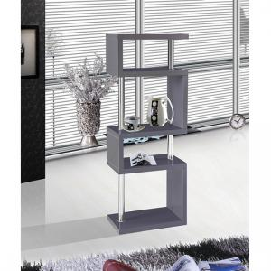 Miami Slim High Gloss Shelving Unit Grey