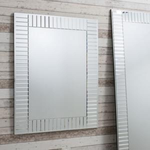 Lauren Mosaic Wall Mirror In Silver And Intricate Bevelled Glass