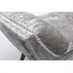 Monsoon Stylish Large Chaise In Crushed Velvet Silver_2