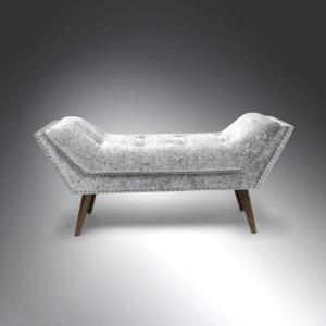 Strugard Trendy Medium Chaise In Crushed Velvet Silver_1