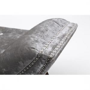 Strugard Trendy Medium Chaise In Crushed Velvet Silver_2