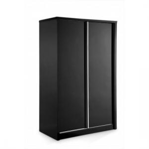 Nova Black High Gloss Finish 2 Door Sliding Wardrobe
