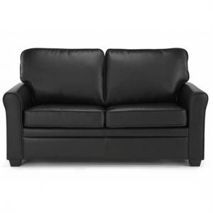 Alyssa Modern Sofa Bed In Black Faux Leather_2