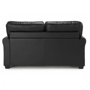 Alyssa Modern Sofa Bed In Black Faux Leather_3