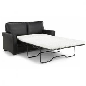 Alyssa Modern Sofa Bed In Black Faux Leather_6