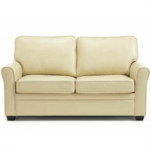 Alyssa Modern Sofa Bed In Cream Faux Leather_2