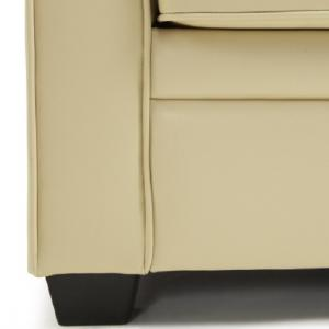 Alyssa Modern Sofa Bed In Cream Faux Leather_4