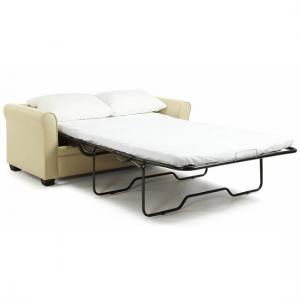 Alyssa Modern Sofa Bed In Cream Faux Leather_7