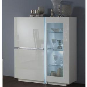 Nicoli Display Cabinet In White High Gloss With 3 Doors