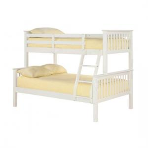 Trios Solid Off White Finish Triple Sleeper Bunk Bed