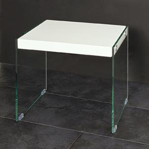 Olymp Gloss Top Side Table With Glass Legs