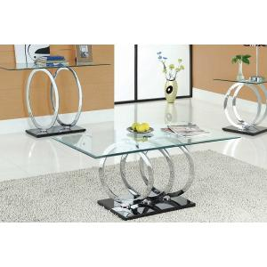 Olympus Clear Glass Console Table With Black Gloss Base_2