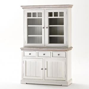 Opal Display Cabinet In Acacia White Wood