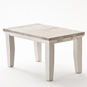 Opal Extentable Dining Table In White Pine
