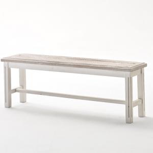 Opal Dining Bench In White Pine 2 Seater