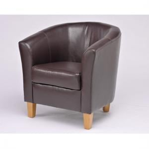 Oxford Dark Brown Tub Chair