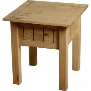 Amitola Lamp Table in Natural Oak Wax