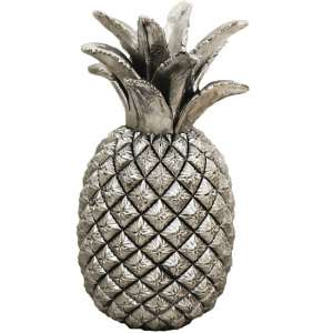 Pineapple Sculpture In Silver Finish