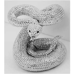 Rattlesnake Sculpture In Silver Finish