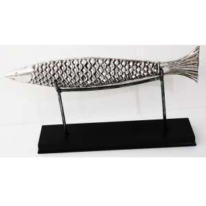 Fish On Stand Sculpture