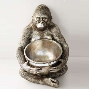 Great Ape With Bowl Sculpture