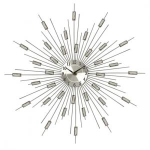 Meridian Stylish Wall Clock In Silver