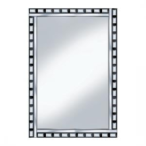 Black And Silver Design 120x80 Large Mirror