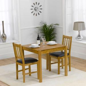 Promo Solid Oak Dining Table And 2 Promo Chairs